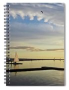 A Marine Lake At Dusk, West Kirby Spiral Notebook