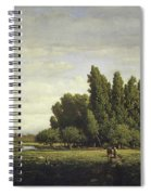 A Meadow Bordered By Trees Spiral Notebook