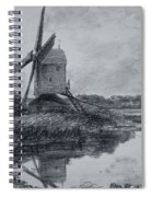 A Mill On The Banks Of The River Stour Charcoal On Paper Spiral Notebook