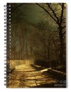 A Moonlit Lane Spiral Notebook