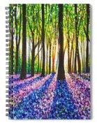 A Morning Walk Through Bluebells Spiral Notebook