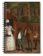 A Mother With Her Son And A Pony Spiral Notebook