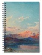 A Mountain Lake At Sunset Spiral Notebook