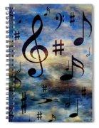 A Musical Storm 3 Spiral Notebook