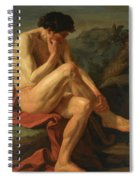 A Naked Man Sitting In A Landscape Spiral Notebook