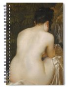A Naked Woman Seen From Behind Spiral Notebook