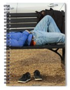 A Nap In The Park Spiral Notebook