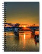 A New Day Chattanooga Sunrise Market Street Bridge Spiral Notebook