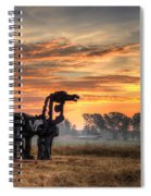A New Day The Iron Horse Spiral Notebook