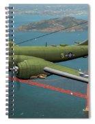 A New Kind Of Bird Over California - Oil Spiral Notebook