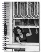 A New Orleans Greeting Bw Spiral Notebook