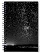 A Night At The Beach 11 Bw Spiral Notebook