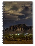 A Night In The Superstitions  Spiral Notebook