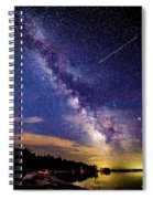 A Northern View Of The Milky Way Spiral Notebook