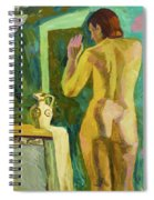 A Nude And Light Spiral Notebook