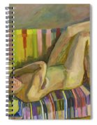 A Nude Lying Legs Up Spiral Notebook