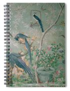 A Pair Of Magpie Jays  Vintage Wallpaper Spiral Notebook