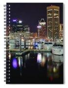 A Panoramic Baltimore Night Spiral Notebook
