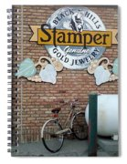 A Parked Bicycle Spiral Notebook