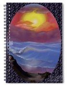 A Pastel Seascape  Spiral Notebook