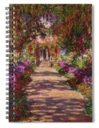 A Pathway In Monets Garden Giverny Spiral Notebook