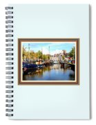 A Peaceful Canal Scene - The Netherlands L A S With Decorative Ornate Printed Frame. Spiral Notebook