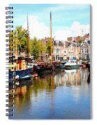 A Peaceful Canal Scene - The Netherlands L B Spiral Notebook