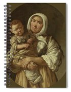 A Peasant Mother With Her Child In Her Arms Spiral Notebook