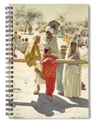 A Peep At The Train, India, 1892 Spiral Notebook
