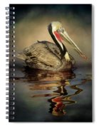 A Pelican And His Reflection Spiral Notebook