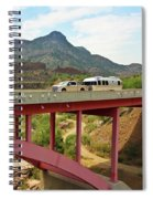 A Pickup Pulling A Travel Trailer Across The Salt River Canyon B Spiral Notebook