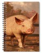 A Pig In Autumn Spiral Notebook