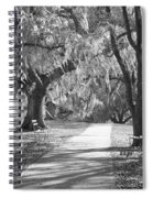 A Place For Contemplation - Black And White Spiral Notebook