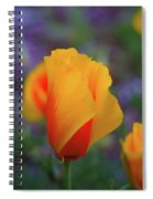 A Poppy Furled  Spiral Notebook