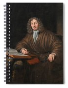 A Portrait Of A Gentleman In His Study Spiral Notebook