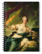 A Portrait Of Anne Josephe Bonnnier De La Mossau  Spiral Notebook