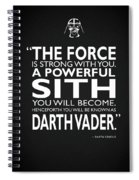 A Powerful Sith Spiral Notebook