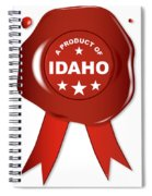 A Product Of Idaho Spiral Notebook
