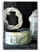 A Pulley And A Lamp Spiral Notebook