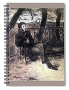 A Pushkin On A Garden Bench 1899 Valentin Serov Spiral Notebook