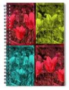 A Quadruple Of Tulips Spiral Notebook