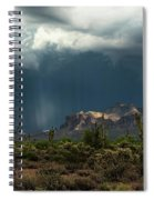 A Rainy Evening In The Superstitions  Spiral Notebook