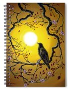 A Raven Remembers Spring Spiral Notebook