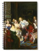 A Reading By Madame De Sevigne Spiral Notebook