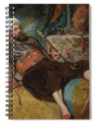 A Reclining Turk Smoking A Hookah, 1844 Spiral Notebook