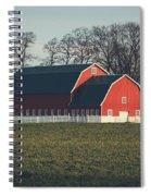 A Red Barn Spiral Notebook