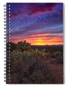 A Red Hot Desert Sunset Spiral Notebook