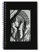 A Red Indian Girl Spiral Notebook