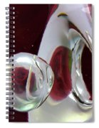 A Reflected Red Rose Spiral Notebook