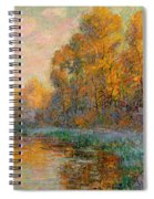 A River In Autumn Spiral Notebook
